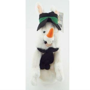 Nwt BUGS BUNNY SNOWMAN Christmas Warner Bros Plush
